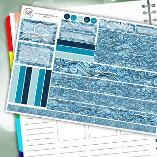 Waves Passion Planner Daily Sticker Kit