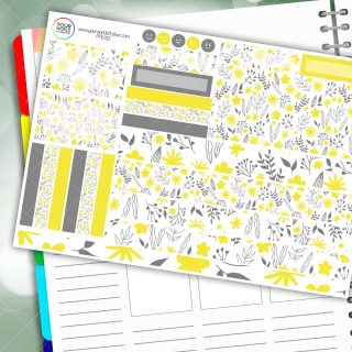 Lemon Drop Passion Planner Daily Sticker Kit