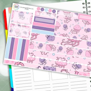 Jellyfish Passion Planner Daily Sticker Kit