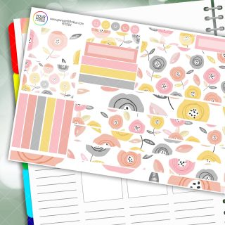 Peachy Keen Floral Passion Planner Daily Sticker Kit
