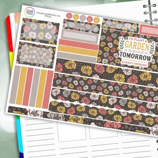 Plant A Garden Floral Passion Planner Daily Sticker Kit