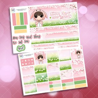 Bunny Kisses Monthly Passion Planner Daily Sticker Kit