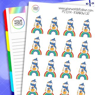 Rainbow Cat Planner Stickers