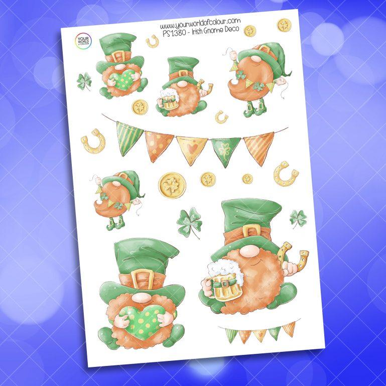 Irish Gnome Deco Planner Sticker