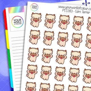 Cairn Terrier Planner Stickers