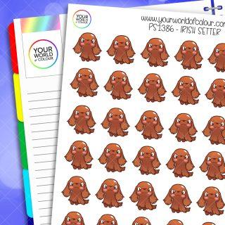 Irish Setter Dog Planner Stickers