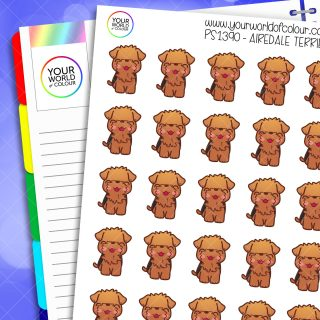 Airedale Terrier Planner Stickers
