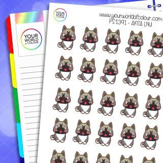 Akita Planner Stickers