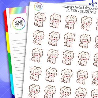 Bichon Frise Planner Sticker
