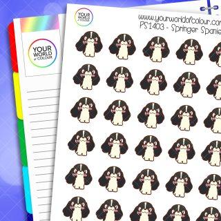 Springer Spaniel Planner Stickers