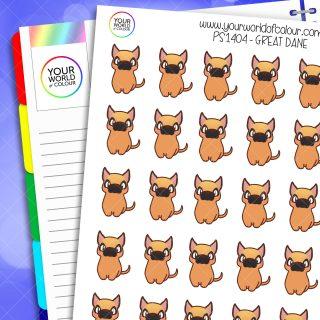 Great Dane Planner Stickers