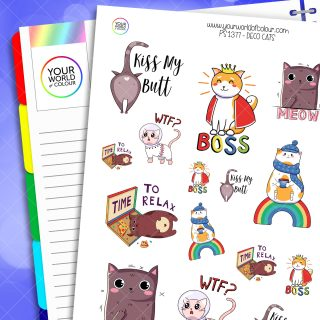 Deco Cats Planner Stickers