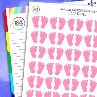 Feet Planner Stickers