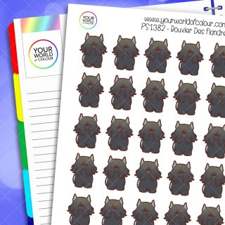 Bouvier Des Flandres Dog Planner Stickers