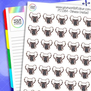 Chinese Crested Planner Stickers