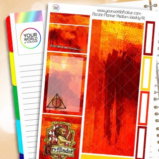 Gryffindoor Passion Planner Weekly Kit