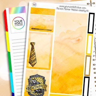 Hufflepuff Passion Planner Weekly Kit