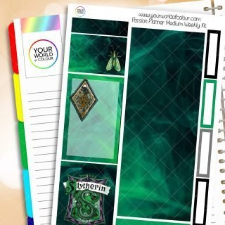 Slytherin Passion Planner Weekly Kit