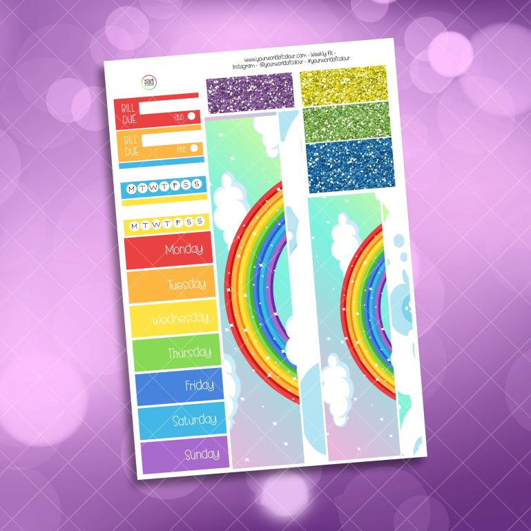 Be A Rainbow Weekly Kit washi