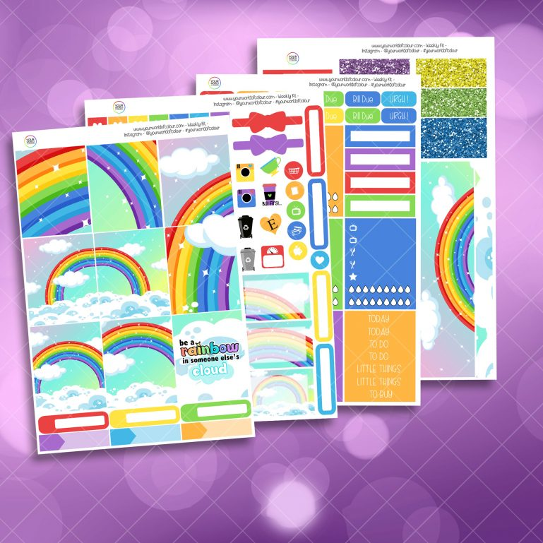 Be A Rainbow Weekly Kit full kit
