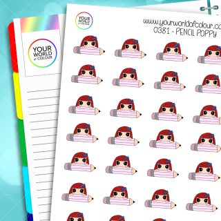 Pencil Poppy Character Stickers
