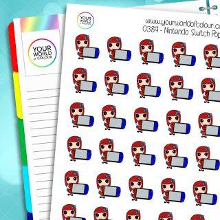 Nintendo Switch Poppy Character Stickers