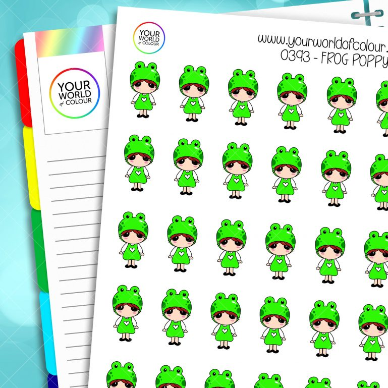 Frog Poppy Character Stickers