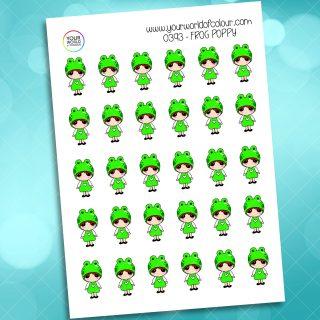 Frog Poppy Character Sticker