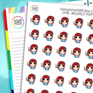 Breakfast Poppy Character Stickers