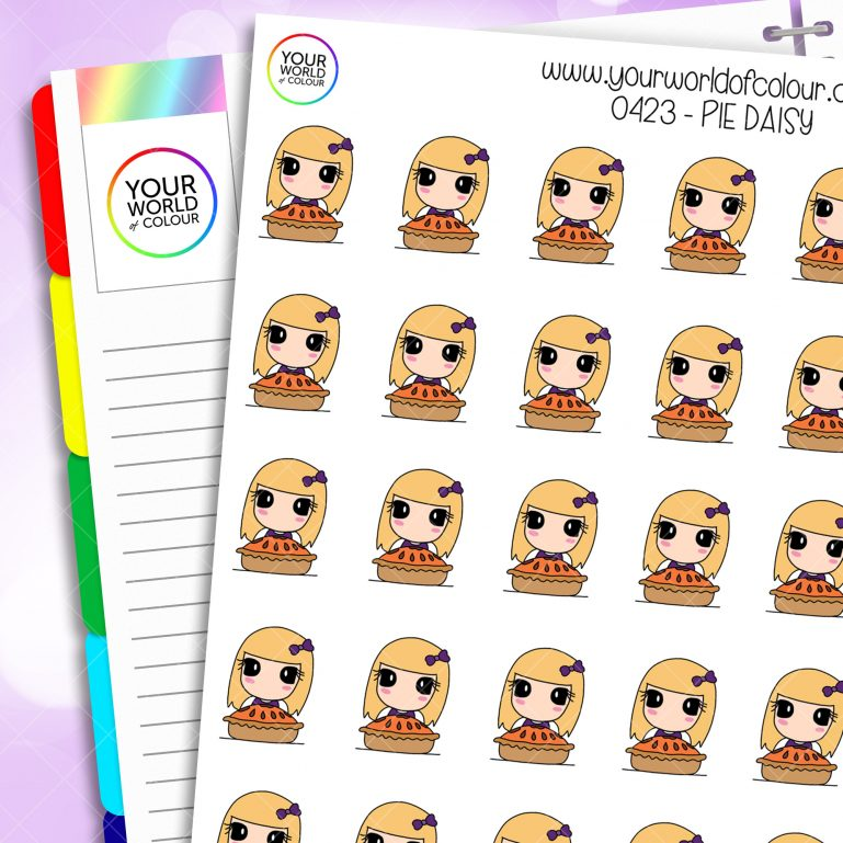 Pie Daisy Character Stickers