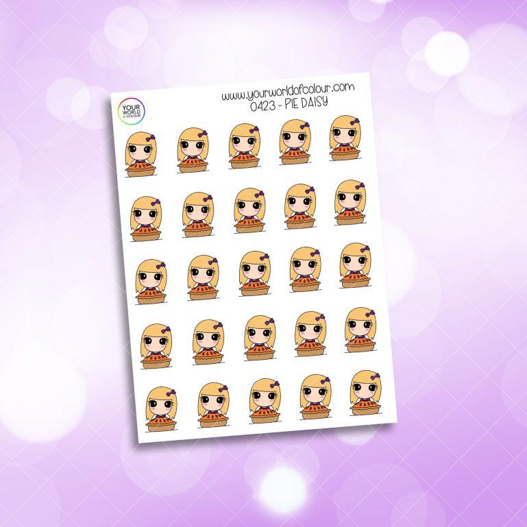 Pie Daisy Character Sticker