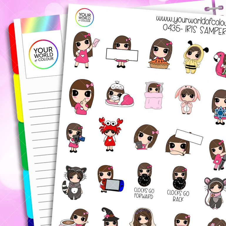 Iris Sampler Character Stickers - 8.0