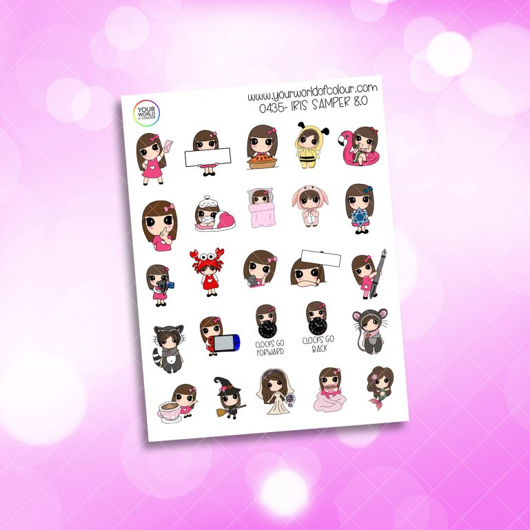 Iris Sampler Character Stickers - 8