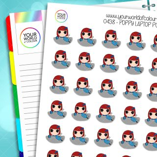 Laptop Poppy Character Stickers