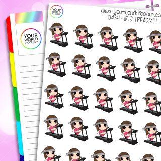Treadmill Iris Character Stickers