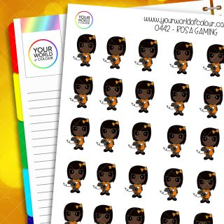 Gaming Rosa Character Stickers