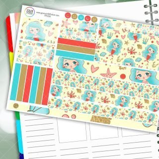 Mermaid Passion Planner Daily Sticker Kit