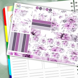 Violet Passion Planner Daily Sticker Kit