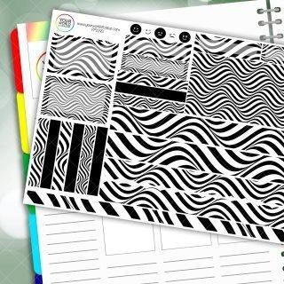 Mono Swirl Passion Planner Daily Sticker Kit