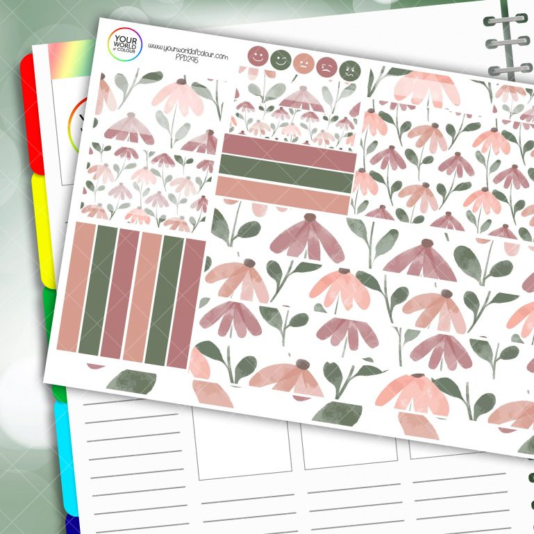 Mellow Daisy Passion Planner Daily Sticker Kit