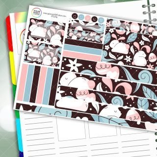 Bunny Eggs Passion Planner Daily Sticker Kit