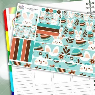 Bunny Floral Passion Planner Daily Sticker Kit