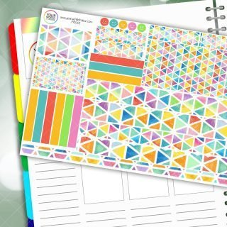 Rainbow Triangles Passion Planner Daily Sticker Kit