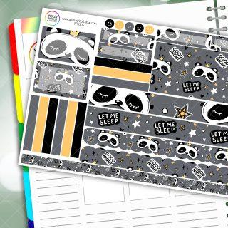 Let Me Sleep Passion Planner Daily Sticker Kit