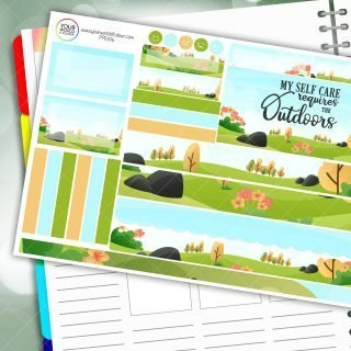 Outdoors Passion Planner Daily Sticker Kit