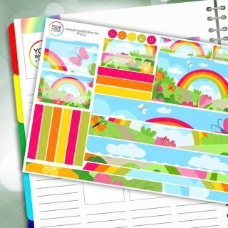 Rainbow Garden Passion Planner Daily Sticker Kit