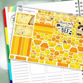 Queen Bee Passion Planner Daily Sticker Kit