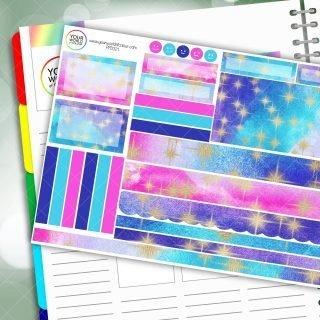 Starburst Passion Planner Daily Sticker Kit