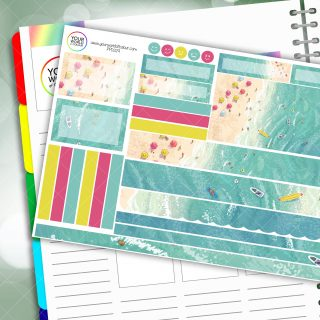 Tropical Wave Passion Planner Daily Sticker Kit