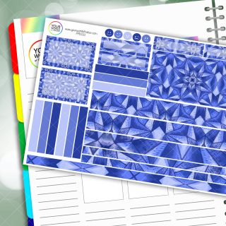 Into The Blue Passion Planner Daily Sticker Kit